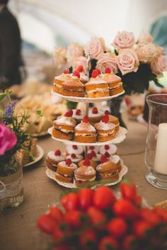 Afternoon Tea Marquee Country Wedding Mini Victoria Sandwiches http://funkypixel.co.uk/