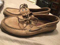 d5ab4f67d0 Sperry Top-Sider Men s Leeward 2-Eye Boat Shoes Sahara Size 7.5  fashion