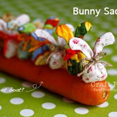 bunny rabbit sachets.  I haven't made these but I checked out the tutorial and they look very simple to make!