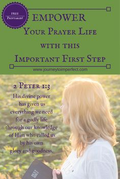 Read this article to to discover an important and often overlooked first step that will empower your prayer life. Free printables to help you! via @JrnyToImperfect