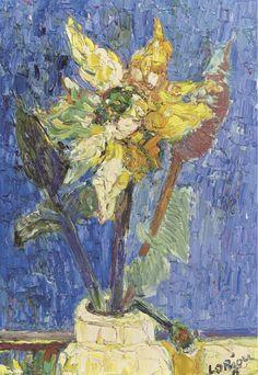 poboh:  Vase de fleurs, Bernard Lorjou. French (1908 - 1986)