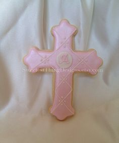 12+Cross+Cookie+Favor+with+initial++large+by+SweetestThingDesigns,+$66.00