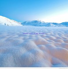 Happy new year amazing snow design