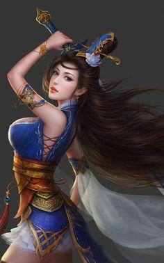 warriors Asian women fantasy art