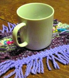 DIY loomed mug rug ...