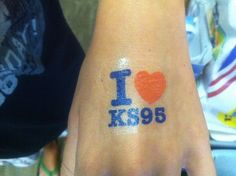 Show your LOVE for KS95 with the new waterless KS95 tattoos!