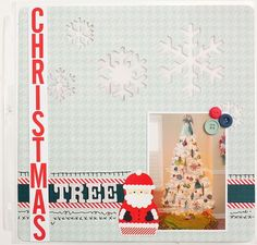 Darling Christmas Tree Layout using Dear Santa Photo Freedom Collection. #echoparkpaper