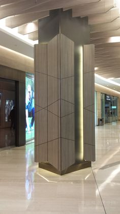 木质包柱艺术装饰设计 - 包柱设计 - 中国商业展示网