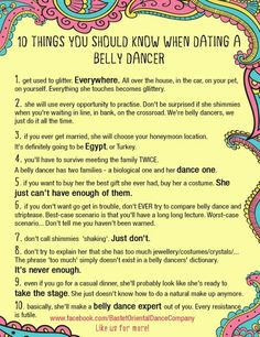 10 Things You Should Know When Dating A Bellydancer.