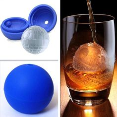Free shipping.  Every Star Wars fan needs to have a Death Star Ice cube/sphere.  You can be very creative with DIY food items and craft projects. Make Death Star ice cubes for your drinks, or chocolate desserts, craft items, and other art works.  Get one now for that special Star Wars party or occasion.
