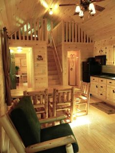 log cabin interiors ………