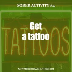 Even though you might have gotten a tattoo while intoxicated, it probably didn't turn out too good, huh? Alcohol thins your blood, causing your tattoo to bleed ink, which means your tattoo will fade quicker and look horrible. Get a tattoo sober!