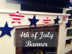 "Get ready to celebrate the stars and stripes with this 4th of July Banner. It puts you in a patriotic mood and you will be singing ""Home of the braaave..."""