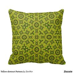 Yellow abstract Pattern Pillow