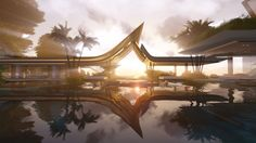 The Water Pavilion visualization by Martin Ferrero Architecture