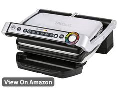 The 7 Best Indoor Grills and Sandwich Presses to Buy in Best Overall: T-fal OptiGrill Stainless Steel Indoor Electric Grill Indoor Electric Grill, Indoor Grill, Electric Grills, Parrilla Interior, Liverpool, Plaque En Fonte, Personal Recipe, Brushed Stainless Steel, Grilling