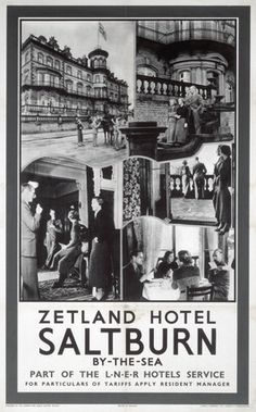 1000 Piece Jigsaw Puzzle (other products available) - London & North Eastern Railways poster. Series of photographic views showing interior and exterior of hotel. 1010 x - Image supplied by National Railway Museum - 1000 Piece Jigsaw Puzzle made to order Posters Uk, Railway Posters, Train Posters, Poster Ads, Fine Art Prints, Framed Prints, Canvas Prints, National Railway Museum, Vintage Travel Posters
