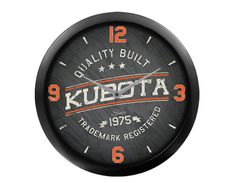 Kubota Quality Built Wall Clock | Lawn Equipment | Snow Removal Equipment | Construction Equipment | Toronto Ontario | Kooy Brothers Snow Removal Equipment, Lawn Equipment, Kubota, Ontario, Toronto, Clock, Construction, Building, Wall