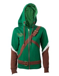 Preorder: Due to ship 31st of March 2016. Dates may change due to manufacturer delays. Composition: 55% Cotton / 45% Polyester New for 2016, the official Zelda Heroine of Hyrule ladies cosplay hoodie! Featuring: Gold embroidered Hylian crest on chest Buckle details on chest and waist Link's Phrygian cap style hood Hylian shield on the …