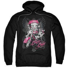 Pink Motorcycle, Hooded Sweatshirts, Hoodies, Betty Boop, Direct To Garment Printer, Black Hoodie, Order Prints, Biker, Pullover
