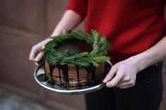 Děvče u plotny - Čokoládový dort smarcipánem