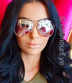 Large Rose Pink Yellow Mirror Gold Metal Frame Aviator Designer Sunglasses 3683 in Clothing, Shoes & Accessories, Women's Accessories, Sunglasses & Fashion Eyewear | eBay