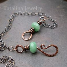 "How to Make a Beaded Hook and Eye Clasp | Welcome back to my teaching series featuring basic wire working techniques. I hope you had a chance to check out the other techniques in this series  ""Wrapped Loops"",  ""Links: Beaded and Crazy"", and ""Jump Rings"". 