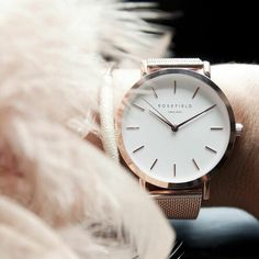 Rose field rose gold watch