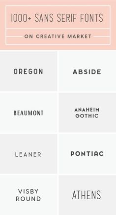 The best sans serif fonts for your next creative project!