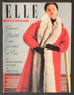 'ELLE' FRENCH VINTAGE MAGAZINE 8 OCTOBER 1951