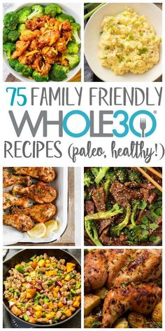 Finding family friendly recipes your whole family will eat can be a struggle. Even finding healthy, real food recipes that are family friendly when you're not on a can be tough. Having some easy weeknight dinners or recipes that are both W Whole 30 Meal Plan, Whole 30 Diet, Paleo Whole 30, Whole Foods, Whole 30 Meals, Whole 30 Drinks, Whole 30 Lunch, Whole Food Diet, Whole 30 Breakfast
