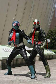 Kamen Rider The First : Ichigo & Nigo Japanese Robot, Japanese Monster, Live Action, Japanese Superheroes, Couples Cosplay, Hero Time, Kamen Rider Series, Mecha Anime, Masked Man