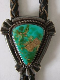 Turquoise Soul . . . Old Navajo Pawn Bisbee Stone Bolo Tie