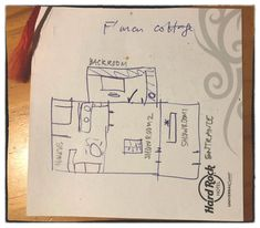 Scribbles: the fisherman's cottage (Zenobia's gallery and home) layout Fishermans Cottage, House Layouts, Scribble, History, Canvas, Gallery, Inspiration, Tela, Biblical Inspiration