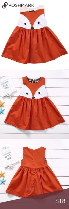 "COMING SOON!  Fox Toddler Dress  Adorable burnt orange sleeveless dress with fox face on front.  Zipper up back.  Toddler sizes.  Brand new, boutique item!  COMING SOON!  ""Like ❤️"" this item to be alerted when they arrive! Boutique Dresses Casual"