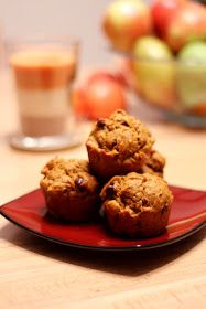Banana Pumpkin Muffins with Chocolate Chips. A wonderful blend of flavors that complement each other well! Yummy! JS