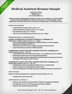 medical assistant objective resumes