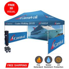 We have branded custom tents & canopy custom graphics for your business logo. Make Your Events Memorable With custom canopies and tents. All pop-up canopies and tents are easy to carry & use. Pick a Custom Canopy Tent & request a free quote today! #customtents #customtent #customtentcanopy