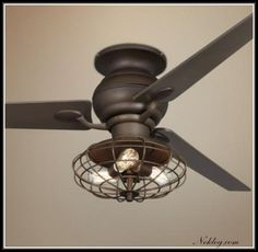 Industrial Ceiling Fan With Light