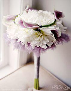 Luxury Lavender & White wedding bouquet.