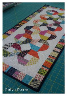 Kelly's Korner: Chicopee  Good idea for kids scrappy quilt too