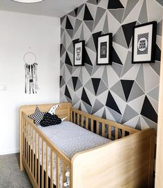 Room Decor Bedroom Rose Gold, Bedroom Wall Colors, Childrens Bedroom Accessories, Home Decor Accessories, Geometric Wall Paint, Wall Painting Decor, Bedroom Wall Designs, Home Decor Kitchen, Kitchen Ideas