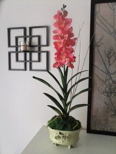28 Pink Silk Vanda Orchid Arrangement by FineOrchidCreations