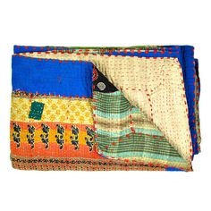 I pinned this Sati Silk Kantha Quilt from the Shilpa Rathi event at Joss and Main!