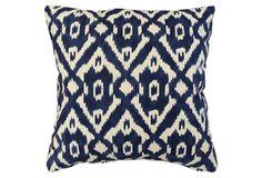 Nassar 20x20 Pillow, Indigo