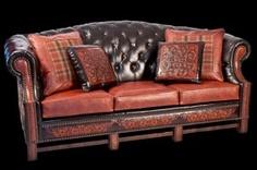 "Steel Strike Furniture - Burlesque SofaL 92"" x D 40"" x H 41"""