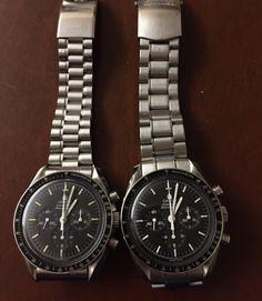 Vintage & Modern OMEGA Speedmaster Pro Moonwatches In Stainless Steel - http://omegaforums.net