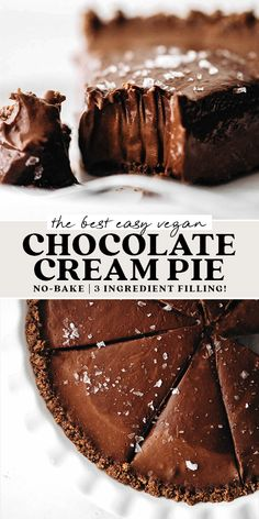 Vegan Dessert Recipes, Gluten Free Desserts, No Bake Desserts, Just Desserts, Baking Recipes, Gluten Free Oreos, Cake Recipes, Vegan Chocolate, Chocolate Recipes