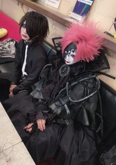 Lime and Kyonosuke | Kizu Together Forever, Visual Kei, Aesthetic Clothes, Goth, Punk, Cosplay, Poses, Face, People