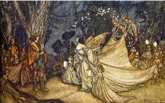 The Meeting of Oberon and Titania by Arthur Rackham, 1905